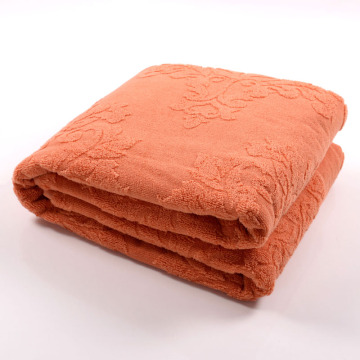 High Quality Extra Large Orange Towel Blanket