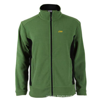 100% polyester green Fleece Jacket