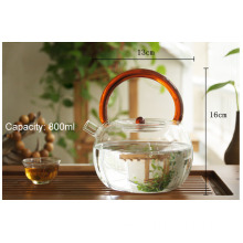 Microwave oven safe boiling water teapot