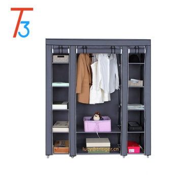 3 door Portable Clothes Closet Wardrobe Non-woven Fabric Storage Organizer