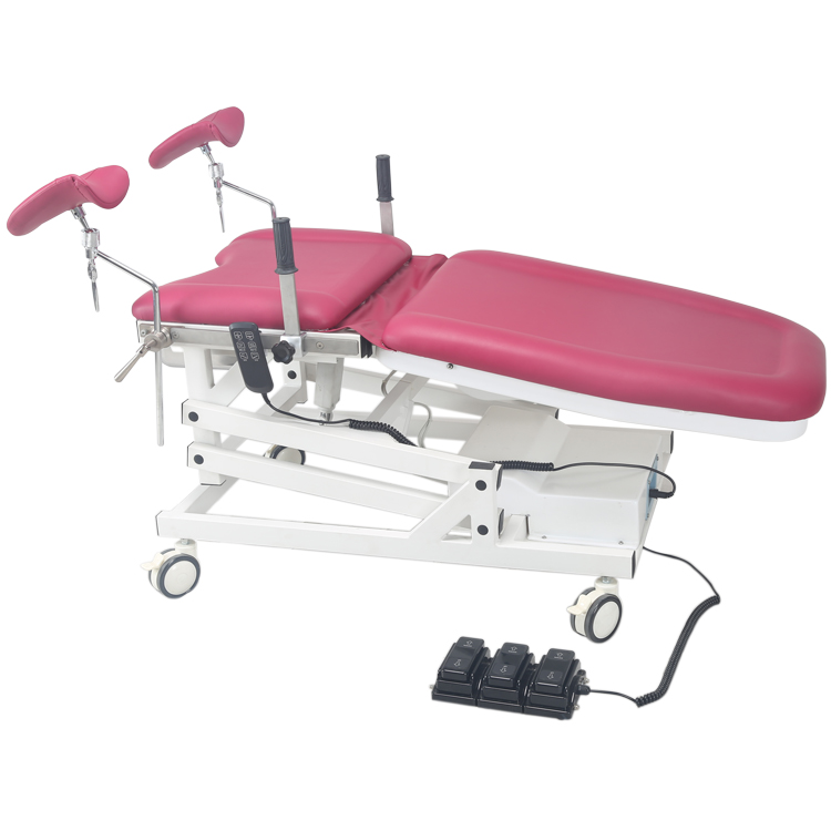 Electric Hospital Medical Bed for Woman Examining