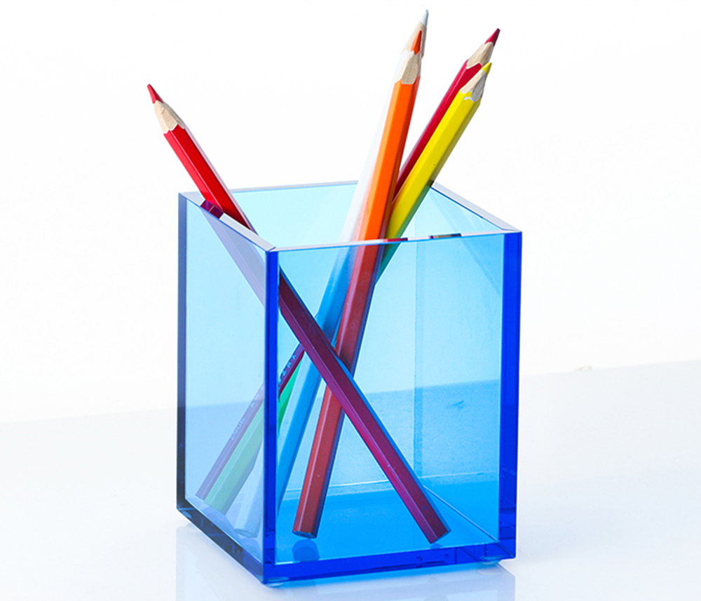 Acrylic Pencil Cup Blue