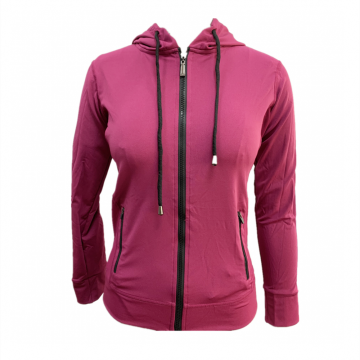 Women's Knit Hoodie With Zip Activewear Jacket