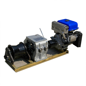 3T Fast Axis Drive Petrol Engine Powered Winch For Cable Pulling