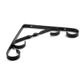 Adjustable size black iron Twisted flowers shelf brackets
