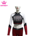 Black and red cheer cropped uniforms