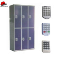 Digital Lock 6 Doors Blue Steel Lockers