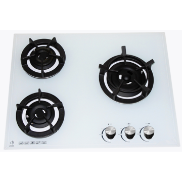 Slim White Glass Gas Cooktops