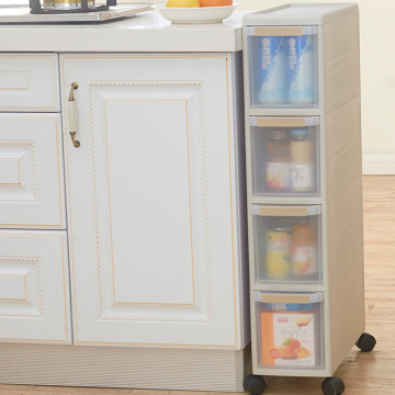 Four layers plastic drawer storage cabinet