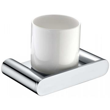 Glass Cup Holder With High Quality Finishing Chrome