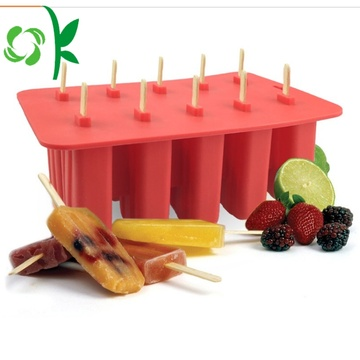 Durable Silicone Ice Cube Maker Trays with Lids
