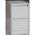 Black 2 drawer steel file cabinet