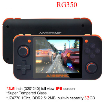 Retro Game Console 3.5 inch IPS Screen RG350 Video games 2500+ Games 16 Emulators RG 350 64bit Game Player