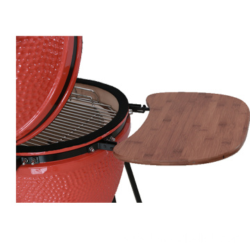 Outdoor ceramic cast iron charcoal grill