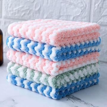Non Stick Oil Home Microfiber Towels For Kitchen Absorbent Thicker Cloth For Cleaning Micro Fiber Wipe Table Kitchen Towel #30