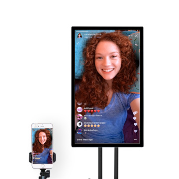 "55"" Tiktok live broadcast mobile projection touch screen"