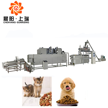 Cat feed extruder machine pet feed processing machines