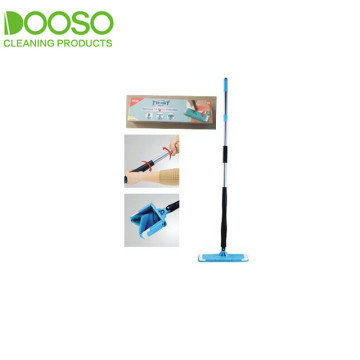 Hands Free Twist Iron Pole Microfiber Flat Mop