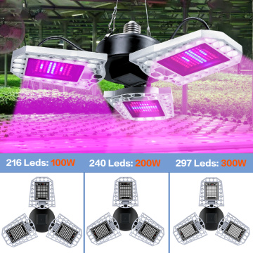 LED Full Spectrum Plant Light E27 Flower Seed Phyto Grow Lamp 100W 200W 300W Seedling Fito Light LED Hydroponics Growth Lampara