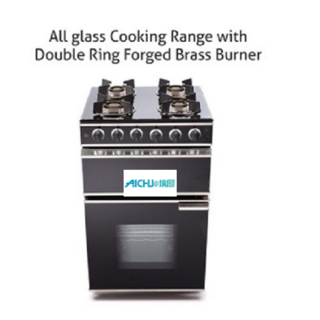 4 Burner Glass Gas Cooking Range Oven