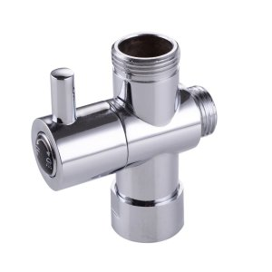 Brass Faucet Water Adapter with Three-way Diverter