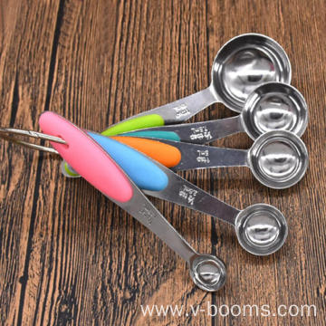 Stainless Steel Measuring Spoon Silicone Handle