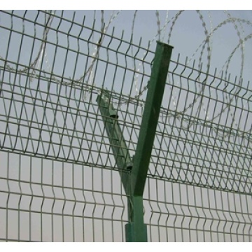 ISO9001 certificate airport security fence with Y post