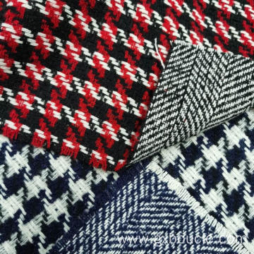 Boucle fashion Houndstooth design double face fabric