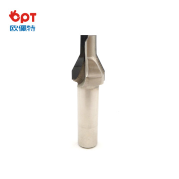 chipping PCD wood router bit drill on aluminum