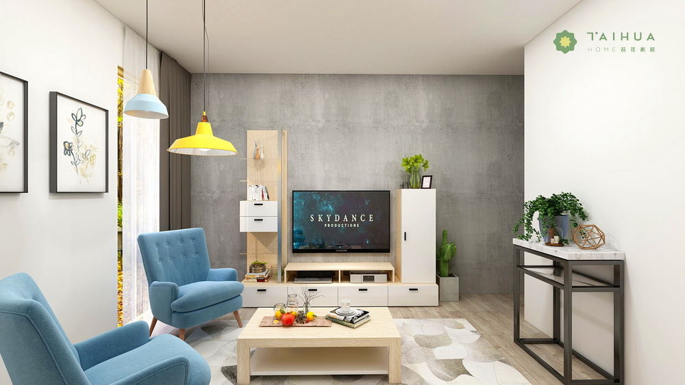 Stylish living room TV unit