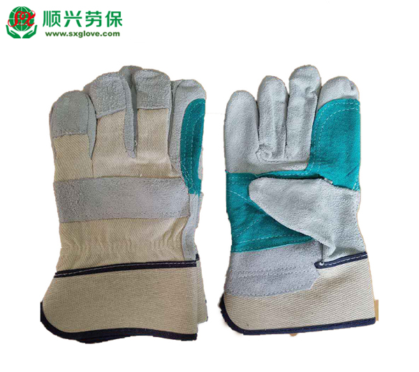 Split Leather Double Palm Work Gloves