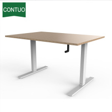 Height Adjustable Standing Crank Office Desks For Custom