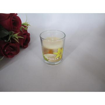 Long Burning Vanilla Scented Glass Candle