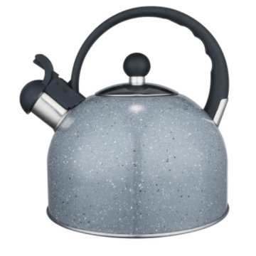 4.5L white tea kettle with wood handle