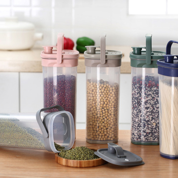 Plastic kitchen multi-grain sealed jar