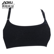 Young Women Seamless Black Yoga Wear Sports Bra