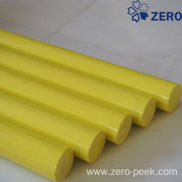 Yellow color POM rod