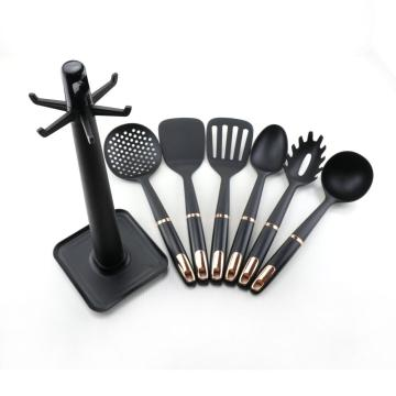 6 pcs Nylon kitchen utensil set with holder