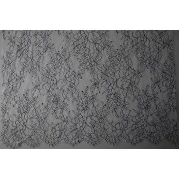 Nylon Polyester Yarn-dyed Panel Lace Fabric