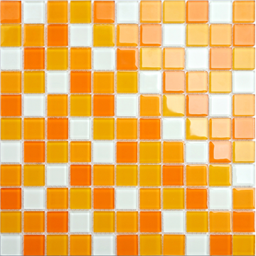 kitchen decoration orange mosaic