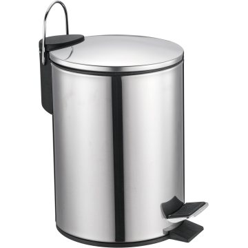 Simple Stainless Steel Trash Bin