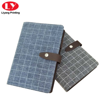 Luxury Diary Notebook Calendar with Button Close