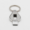 10pcs/Lot Sublimation Metal Blank U Disk 8G Chip with Keychain DIY heat thermal transfer printing Blank Crafts