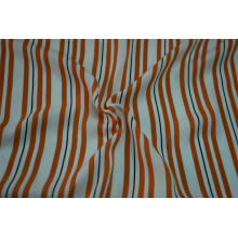 100% Polyester Sea Island Yarn Stripe Print Fabric