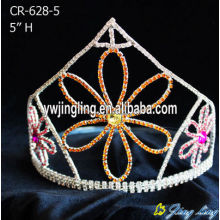 5 Inch Beauty Crystal Flower Crowns
