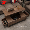 Rustic Low Wooden Coffee Table Design