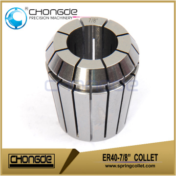 "ER40-7/8"" Precision Collet Clamping Range 0.875""-0.835"""