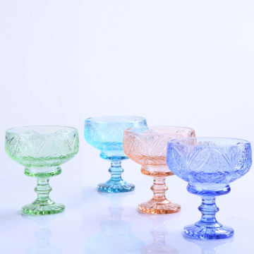 Supply Florid Colorful Glass Ice Cream Bowl