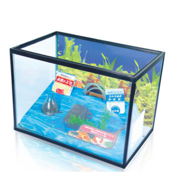 Heto Aquarium Kit Fish Tank with Filter Pump , Fish net included