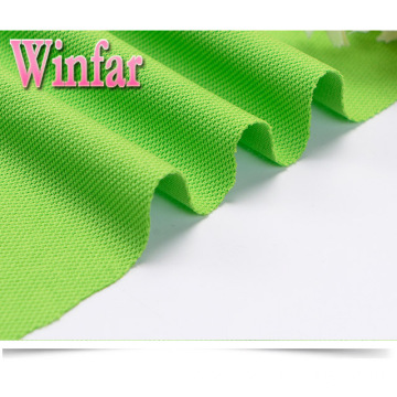 Plain Dye Polyester Stretch Jersey Pique Knit Fabric